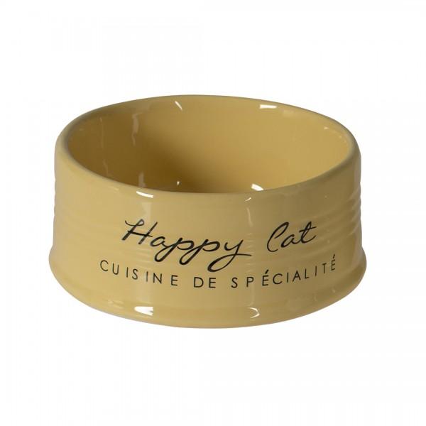 Futternapf Happy Cat - gelb